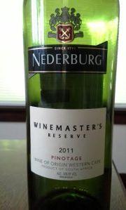 Nederburg 2011 Winemaster's Reserve Pinotage